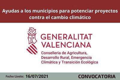 Ayudas a los municipios para potenciar proyectos contra el cambio climático
