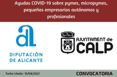 Ayudas COVID-19 sobre pymes, micropymes, pequeños empresarios autónomos y profesionales - Ayuntamiento de Calpe