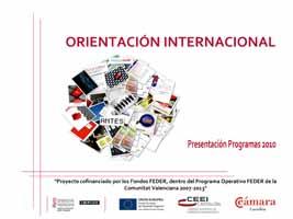 Programas de Internacionalización de las Cámaras (Presentación)