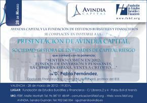 Avindia Capital presenta su Fondo de Capital Riesgo Energy I