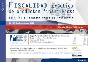 La FEBF organiza un curso de Fiscalidad práctica de productos Financieros