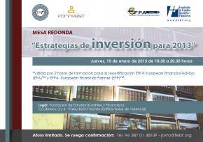 La FEBF analiza las oportunidades de inversión para los ahorradores en 2013