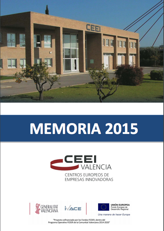 Portada Memoria CEEI Valencia 2015