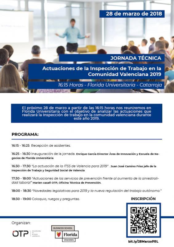 Jornada Técnica: Actuaciones de la Inspección de trabajo en la Comunidad Valenciana 2019
