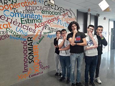 Estudiantes de Xúquer Centre Educatiu, en la semifinal del certamen de pitches FPStartup de la Comunitat Valenciana