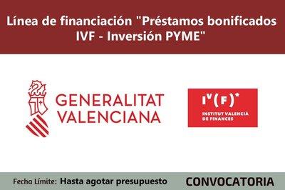 """Línea de financiación """"Préstamos bonificados IVF - Inversión PYME"""""""