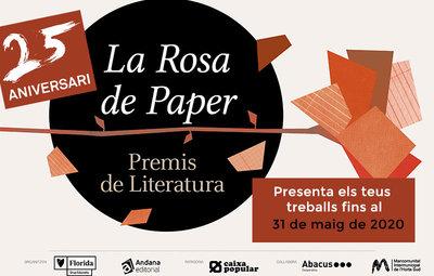 Novedades de los Premios Literarios 'La rosa de paper'
