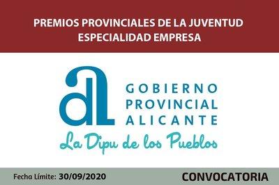 Premios provinciales de juventud. empresa