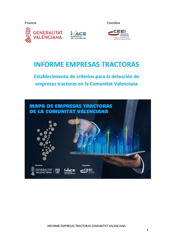 Informe Empresas Tractoras 2020 Comunitat Valenciana