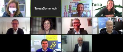 Participantes en la sesión, de CEEI Valencia, IVACE, Adlypse, GRIDET-UV y Gal Turia-Calderona