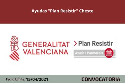 "Ayudas ""Plan Resistir"" Cheste"
