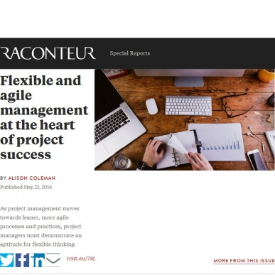 Flexible and agile management at the heart of project success | Raconteur.net